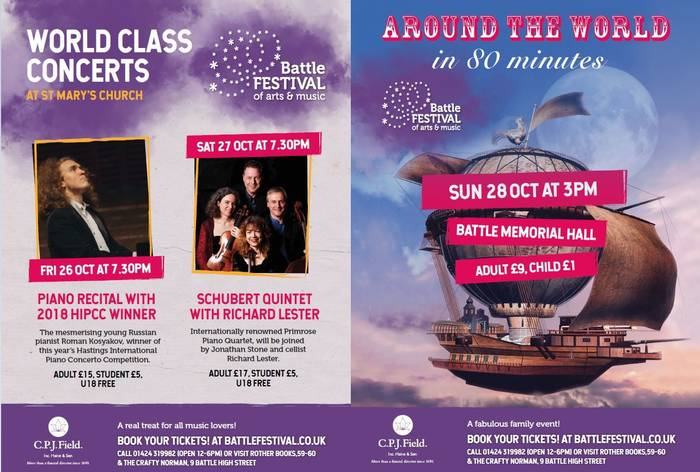 Battle Festival of Arts & Music programme