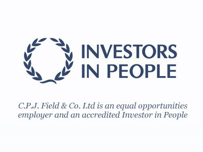 CPJ Field is an equal opportunities employer and an accredited Investor in People